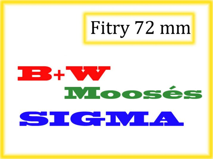 Filtry 72 mm