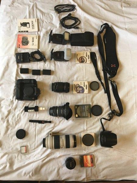 Canon 7D plus mnoho prislusenstvi