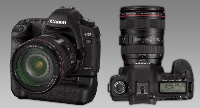 Canon 5D II s příslušenstvím