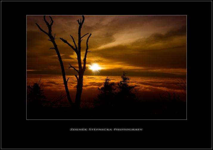 Západ slunce- inverze mraků