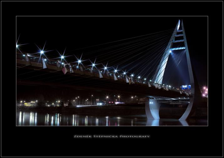 Most  - Děčín -noční pohled