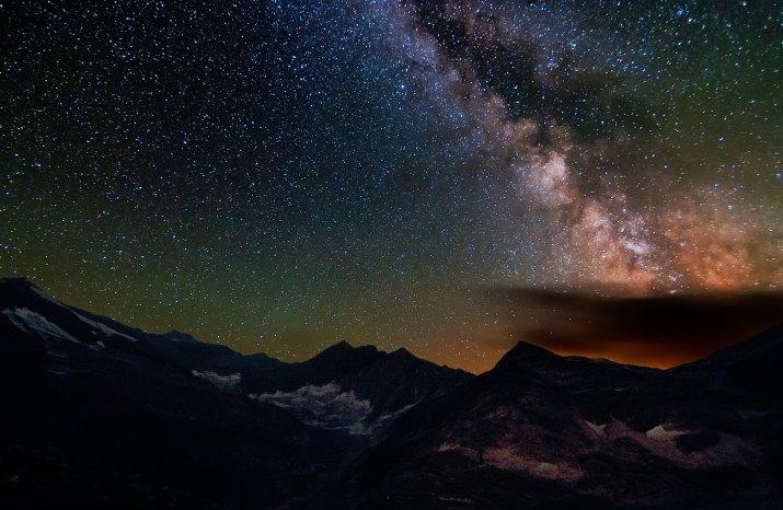 Mléčná dráha v Alpách
